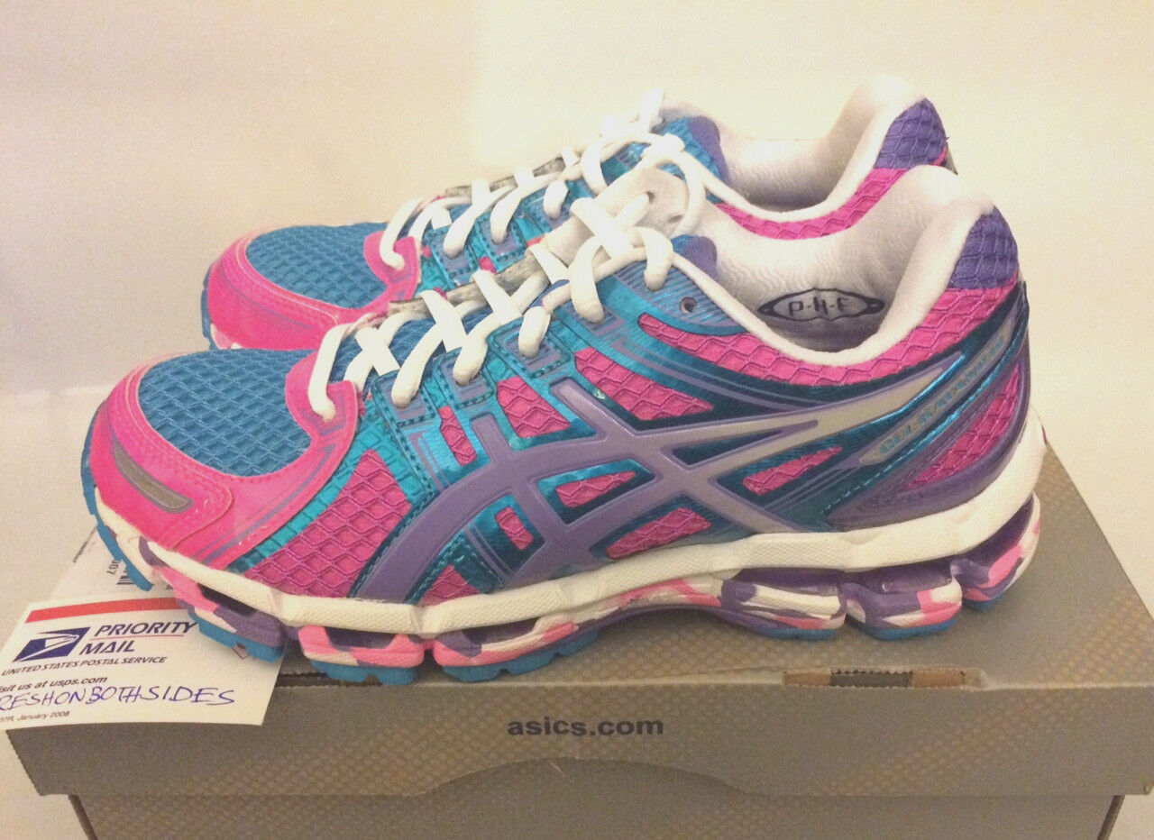 Women Asics KAYANO 19 Running Flash Pink Grape White tennis nimbus hot sz 5 NEW