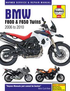 BMW F800S F800ST F800GS F800R 2006-2010 Haynes Manuel 4872 NEUF u7JRFZb9-07135759-977420294