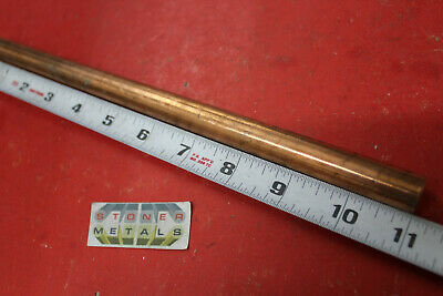 """3//8/"""" COPPER ROUND ROD 4 Pieces 12/"""" long C110 H04 Solid CU New Lathe Bar Stock"""