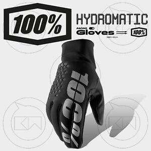 GUANTI-100-HYDROMATIC-BRISKER-MX-BLACK-ADULTO-MOTOCROSS-ENDURO-OFF-ROAD-ATV-MTB