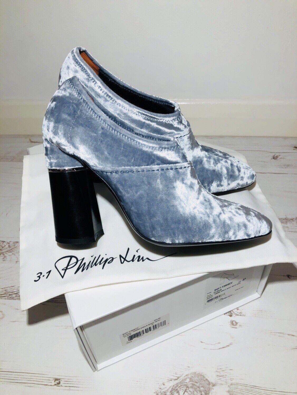 Phillip Lim  Kyoto  Stretch Tobillo botas De De De Terciopelo Aplastado Talla 37 UK 4 Nuevo 8b7d43