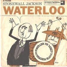 STONEWALL JACKSON--PICTURE SLEEVE + 45--(WATERLOO)---PS--PIC--SLV