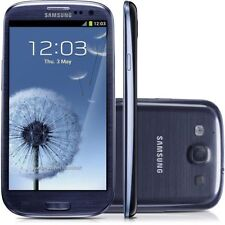 """Unlocked Samsung Galaxy S3 I9300 Android 4.8"""" Cell Phone GPS NFC 16GB 8MP Blue"""