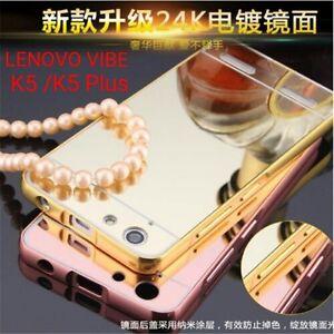 Luxury-Aluminium-Metal-Bumper-MIRROR-Back-Cover-Case-For-Lenovo-Vibe-K5-Plus