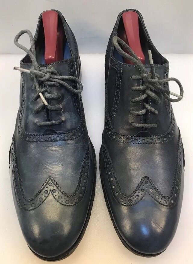 Cole Haan Men 9.5 M 10.5 M bluee Leather Wing Tip Oxfords C10485 Mismate