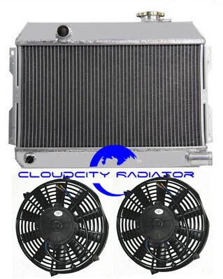 Fan Aluminum Radiator For 1968-1973 Nissan Datsun 510 521 Pickup  69 1970 71 72