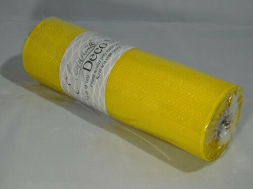 1 Roll of 25cm x 9.1 metres Waterproof Deco Mesh Decomesh Ruffle Wreaths UK