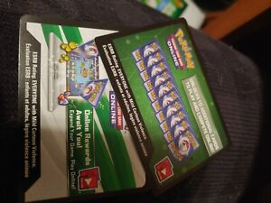 10 Pokemon tcg Hidden Fates Unused Online Code Cards Online Booster packs