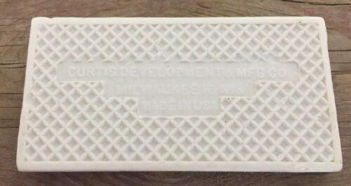 CO Antique Number 3 Tile Curtis Development /& MFG Milwaukee Wis 1.75X3.45 Inch