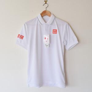 Uniqlo-Kei-Nishikori-2017-Wimbledon-Dry-EX-Tennis-Polo-Shirt-Men-039-s-Size-XS-NEW