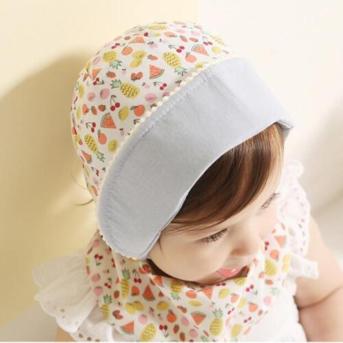 Kids Princess Girls Beanie Convertible Hat Newborn Baby Strap Flanging Sun Cap