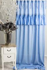 SOFIA BLAU PASTELL 145x250cm Gardine Vorhang Raffgardine Landhaus Shabby Vintage