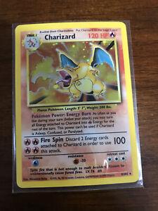 New Listing Charizard Holo Pokemon 1999 Base Set Unlimited Original Card WOTC 4/102 Played