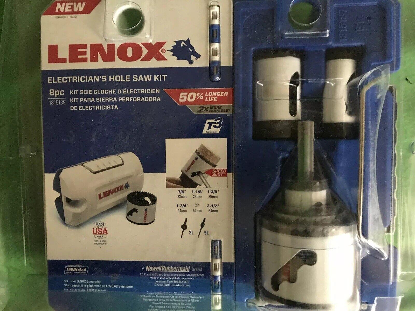 LENOX Tools Bi-Metal Speed Slot Hole Saw with T3 Tech, Electrician's Kit 8-piece