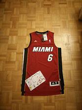 NWT LeBron James Miami Heat Alternate Red Adidas R30 Swingman Men Jersey M