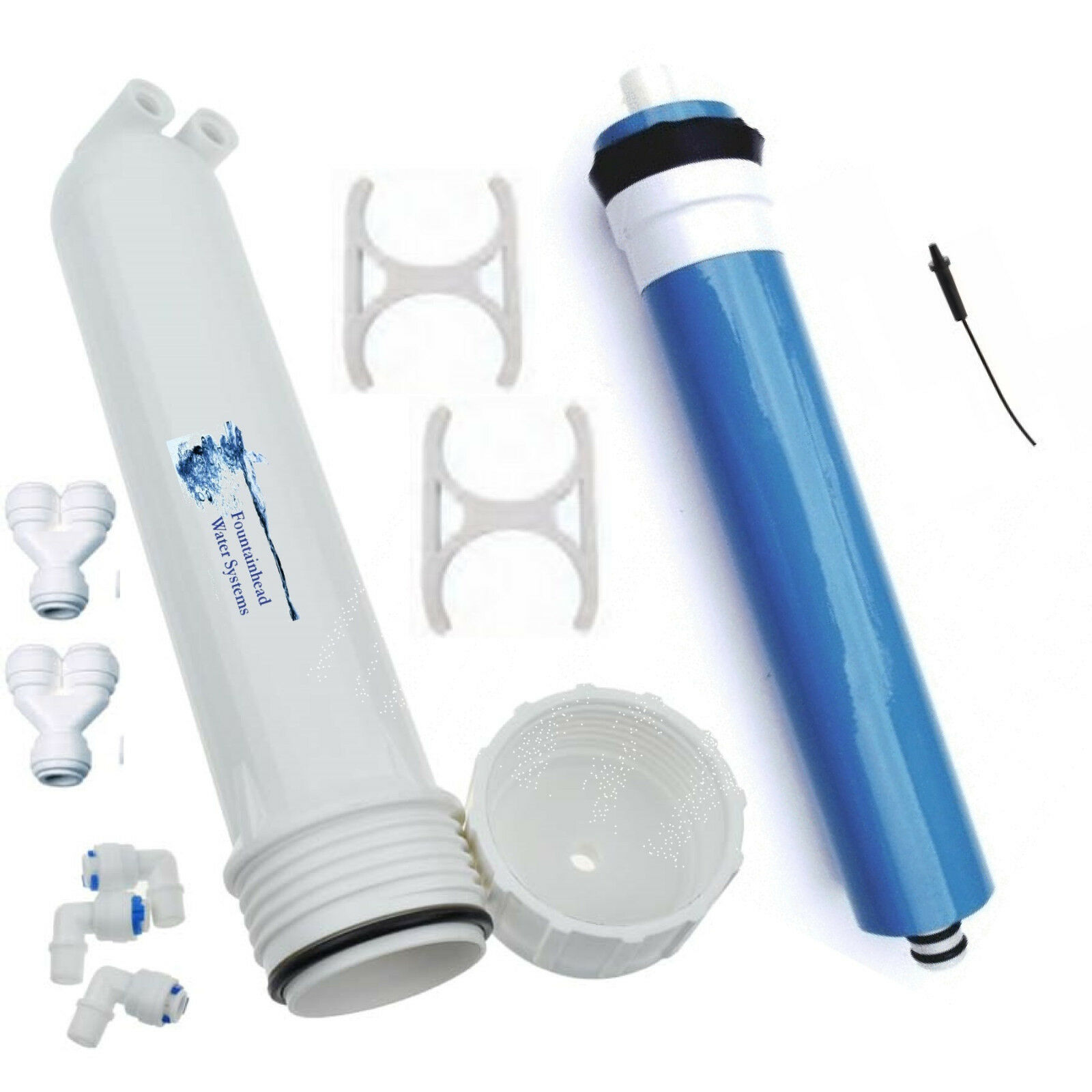 Reverse Osmosis RODI 150 GPD Membrane. Housing. AddOn System. Boost Output