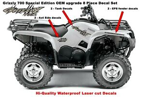 Yamaha Grizzly 700 Special Edition Oem Atv Upgrade Decal Sticker Kit Ebay