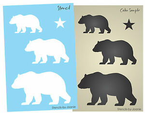 Bear Stencil Rustic Mountain Outdoor Country Cabin Lodge Woodland Primitive Star