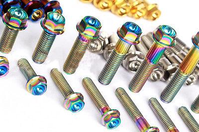 4Pcs M6x10//20//25//30//35//40//45//50mm Titanium Six-party Flange Concave Screws Bolts