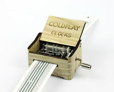 Coldplay - Clocks / Hand Crank Paper Strip Wooden Music Box