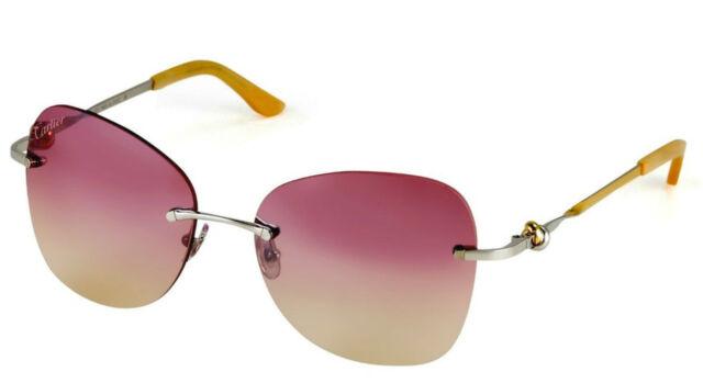 Cartier Trinity Two Tone Golden Pink Lenses Women Sunglasses ...
