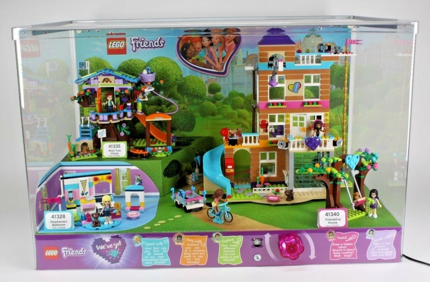 NEW IN BOX BOX BOX LEGO FRIENDS TOYS R US EXCLUSIVE LIGHTED STORE DISPLAY TOY 856ec0