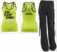 Zumba 2 Pieceset Feel The Music Cargo Capris Pants & Instructor Racerback S M L