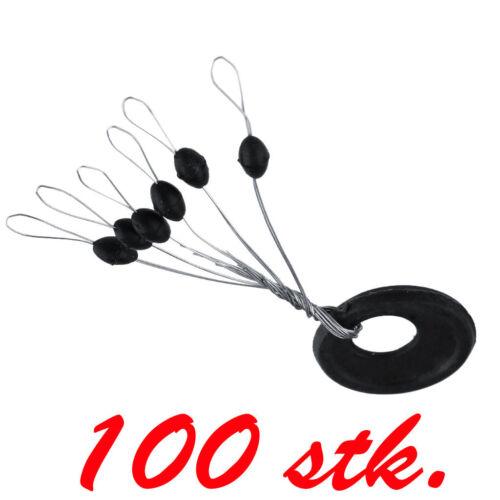 100 X Gummistopper Posenstopper Schnurstopper Angeln Posenzubehör Größe S Ap