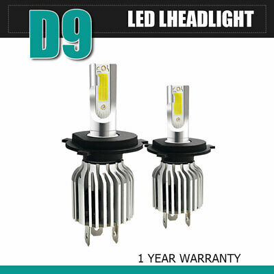 2PCS 9006 LED Headlight Kit Combo Total 60W 13200LM Low Beam 6500K Headlamps