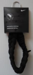 Nike Dri-Fit Central Headband Braided Black White Mens Women s OSFM ... fe9b6a0cfc6