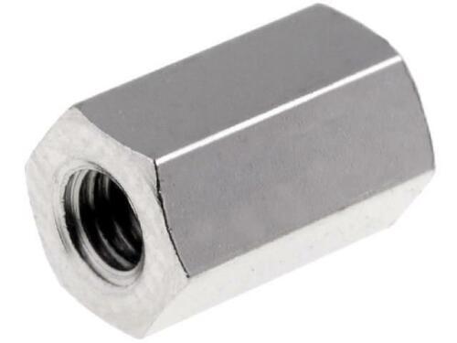 10x TDYSFF-M3//8 Distanzmuffe mit Gewinde Innengew M3 8mm Messing Nickel