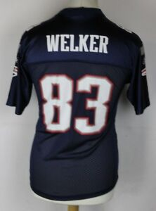 WELKER-83-NEW-ENGLAND-PATRIOTS-AMERICAN-FOOTBALL-JERSEY-REEBOK-YOUTHS-LARGE