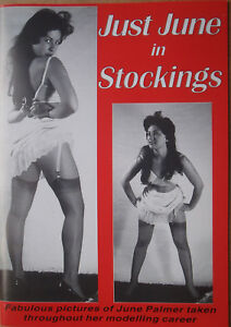 """Just June Palmer in Stocking""  Photo book of 1960's UK Glamour Model. Windmill."