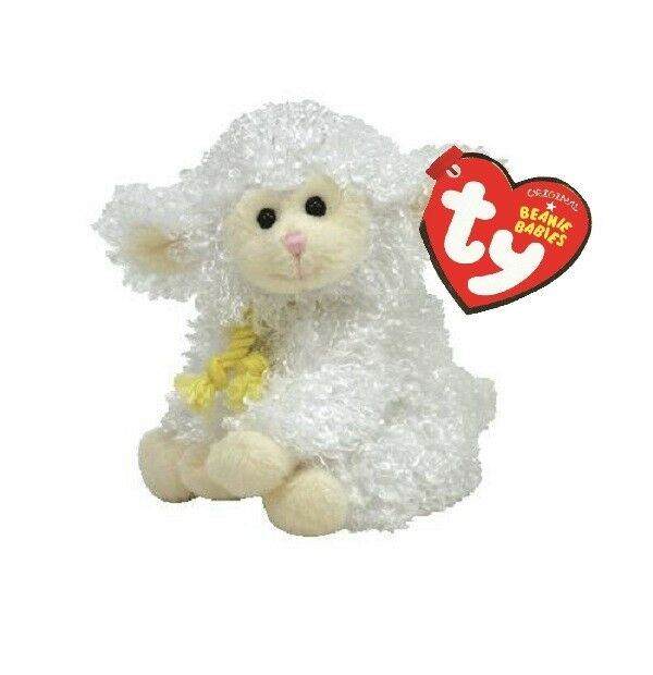 2548eed22f5 Ty Basket Beanie Babies FLOXY Lamb Sheep Plush Toy Animal 4