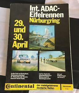 NURBURGRING-DRM-EIFELRENNEN-1972-PROGRAMME-FORD-CAPRI-RS-2600-HANS-STUCK-BMW-CS