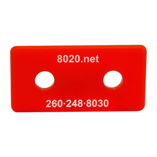 80//20 Inc 10 Series Red ABS Plastic End Cap w//Fasteners for 1020 #2025-RED N