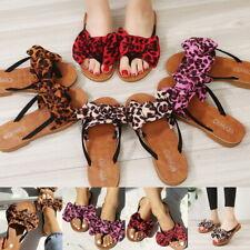 Ofelia Women/'s Glitter Flower Bow Flip Flops Thong Flat Sandals