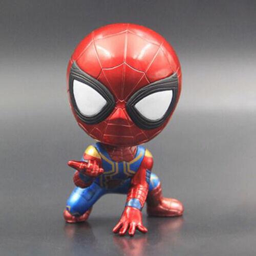 Bobble Head Action Figure Spider-man Bobble Head Doll PVC figure Toys Car Decor