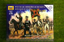 Zvezda RUSSIAN LINE INFANTRY COMMAND GROUP 1812 – 1814 kit 6815
