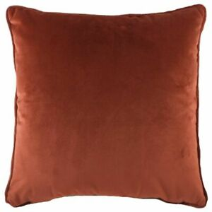 Evans-Lichfield-Soft-Velvet-Cushion-Cover-or-Filled-in-Terracotta-43cm-x-43cm