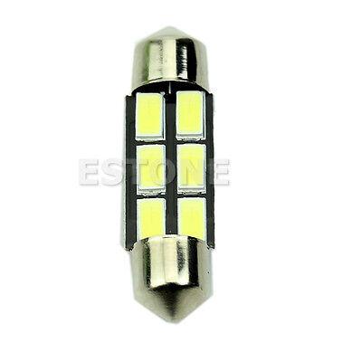 Bright White 12V 36mm 5730 SMD 6-LED Car Interior Dome Festoon Light Roof Lamp
