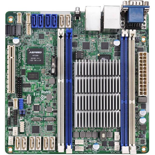 ASRock Rack C2750D4I Server Motherboard + Intel Avoton C2750 2.4GHz Processor !!