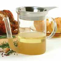 Norpro 3022 Glass Gravy Separator 4 Cup With Stainless Steel Removable Strainer on sale