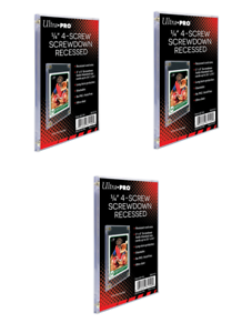 Pack-of-3-Ultra-Pro-4-Screw-Screwdown-Trading-Card-Holders-Standard-Recessed