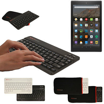 "Slim Wireless Bluetooth UK Keyboard with Case for Amazon Fire HD 10"" Tablet"