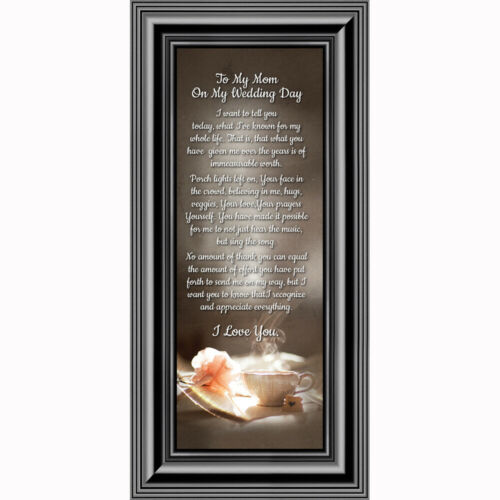 6x12 7334 **NEW** To My Mom on My Wedding Day Mother-Daughter Picture Frames
