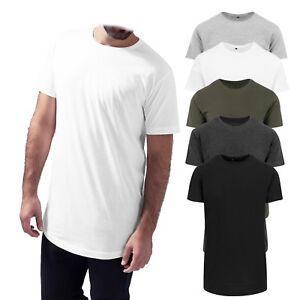 NEU-Build-Your-Brand-Shaped-Long-Tee-Herren-Rundhals-T-Shirt-extra-lang