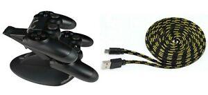 PS4-Set-Controller-Ladestation-Controller-Ladekabel-3-Meter-fuer-Playstation-4