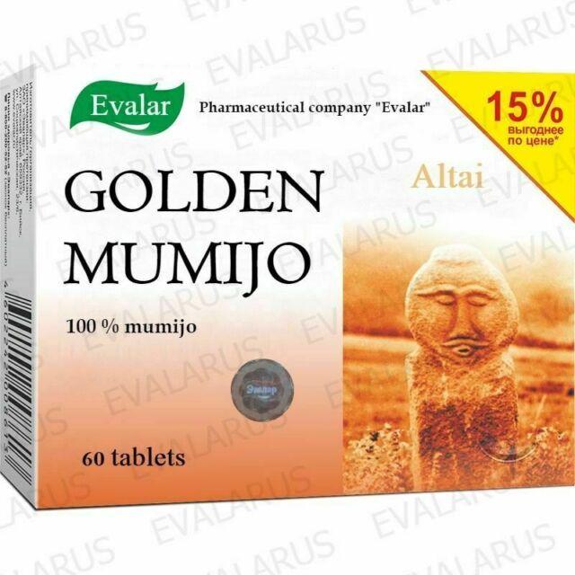 Mumiyo Shilajit GOLD ALTAI PURIFIED Altai Mumio Mumijo 100% natura 60 tabs