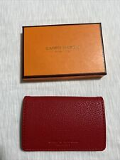 Campo Marzio Pebbled Faux Leather Magnetic Business Card Holder Cherry Red
